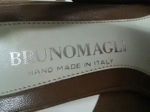 ブルーノマリ BRUNOMAGLI サンダル 36 1/2 レディース 美品 ブラウン×白 レザー【中古】