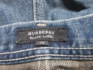 バーバリーブラックレーベル Burberry Black Label ジーンズ サイズ79 メンズ ネイビー ダメージ加工【中古】