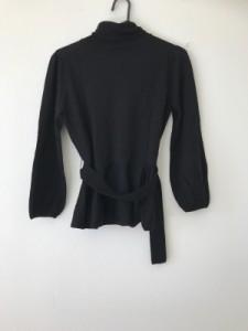 マテリア MATERIA 長袖セーター サイズ38 M レディース 美品 黒 タートルネック【中古】