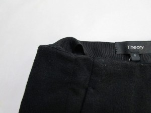 セオリー theory パンツ サイズ0 XS レディース 美品 黒【中古】