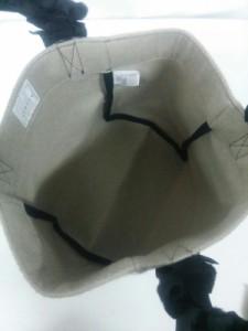 ラドロー LUDLOW トートバッグ レディース ベージュ×黒 ウール×化学繊維【中古】