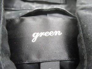 グリーン green トレンチコート サイズ2 M レディース 黒 春・秋物【中古】