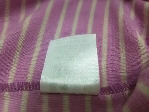 モンベル mont-bell 半袖Tシャツ レディース パープル×アイボリー ボーダー【中古】