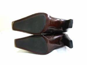 セルジオロッシ sergio rossi ショートブーツ 35 1/2 レディース ダークブラウン レザー【中古】