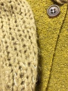 フラボア FRAPBOIS カーディガン サイズ1 S レディース 美品 ダークグリーン×ライトグリーン【中古】