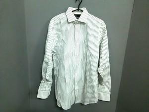 ポロラルフローレン POLObyRalphLauren 長袖シャツ サイズ15 1/2-34 メンズ 白×ダークグレー ストライプ【中古】