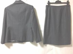 オールドイングランド OLD ENGLAND スカートスーツ サイズ40 M レディース 美品 ダークグレー×ライトブルー ストライプ【中古】