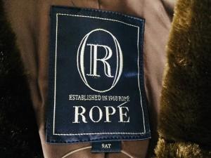 ロペ ROPE コート サイズ9AT M レディース ダークブラウン フェイクファー/冬物【中古】
