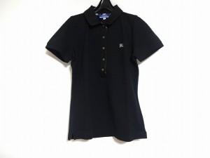 バーバリーブルーレーベル Burberry Blue Label 半袖ポロシャツ サイズ38 M レディース 黒【中古】