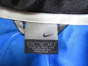 ナイキ NIKE コート サイズXL メンズ 美品 黒×ブルー×グレー×マルチ 冬物/ジップアップ/ベンチコート/MANCHESTER UNITED【中古】