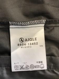 エーグル AIGLE ブルゾン サイズS レディース ダークグレー×ピンク 春・秋物/収納型フード【中古】