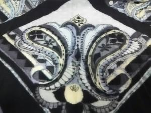 グレースコンチネンタル GRACE CONTINENTAL ストール(ショール) F レディース 美品 アイボリー×黒×マルチ ウール【中古】