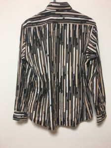 ラコステ Lacoste 長袖シャツ サイズ4 XL メンズ 美品 黒×ベージュ×マルチ【中古】