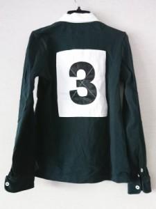 ラルフローレン RalphLauren 長袖ポロシャツ サイズM レディース 黒×白【中古】