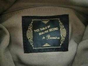 ビュレ Beaure クラッチバッグ レディース 美品 ライトブラウン×ゴールド THIS TABLE BEAU'RE SECOND レザー【中古】