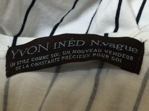 イネド INED ワンピース サイズXS レディース 美品 白×ダークネイビー YVON INED N.vague/ストライプ【中古】