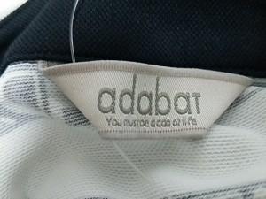アダバット Adabat 長袖ポロシャツ サイズ36 S レディース 美品 白×黒【中古】