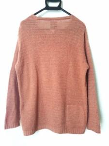 ディーゼル DIESEL 長袖セーター サイズS メンズ オレンジ×ライトブラウン Industry【中古】
