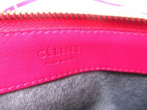セリーヌ CELINE ショルダーバッグ レディース トリオ ピンク 3連バッグ(着脱可) レザー【中古】