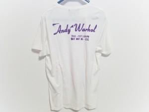 ヒステリックグラマー HYSTERIC GLAMOUR 半袖Tシャツ メンズ 白×パープル×ピンク スカル/Andy Warhol【中古】
