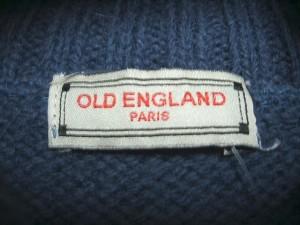 オールドイングランド OLD ENGLAND 長袖セーター レディース ネイビー タートルネック【中古】