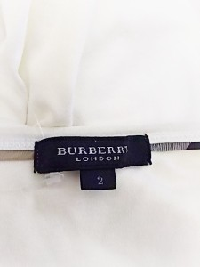 バーバリーロンドン Burberry LONDON 半袖Tシャツ サイズ2 M レディース 美品 アイボリー【中古】