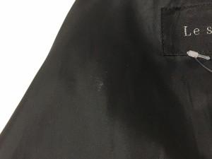 ルスーク Le souk コート サイズ38 M レディース 美品 黒 冬物/ファー【中古】