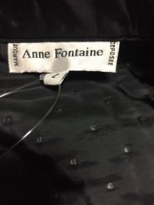 アンフォンティーヌ Anne Fontaine コート レディース 黒 ドット柄/冬物【中古】