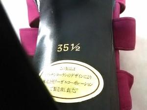 イヴサンローラン YvesSaintLaurent パンプス レディース ピンク ヌバック【中古】