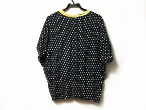 メルシーボークー mercibeaucoup 半袖Tシャツ サイズ1 S レディース イエロー×黒×マルチ ドット柄【中古】