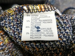 ミッソーニ MISSONI 長袖セーター サイズM メンズ ダークネイビー×白×オレンジ EXAMPLE【中古】