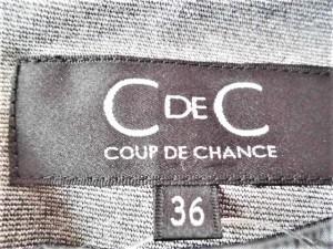 クードシャンス CdeC COUP DE CHANCE ワンピース サイズ36 S レディース 美品 ライトグレー×黒【中古】