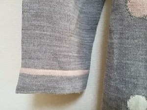 ギャラリービスコンティ GALLERYVISCONTI 長袖セーター サイズ2 M レディース グレー×ピンク×白 タートルネック/ドット柄【中古】