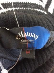 キャロウェイ CALLAWAY 長袖セーター サイズM レディース 黒×グレー タートルネック/ボーダー【中古】
