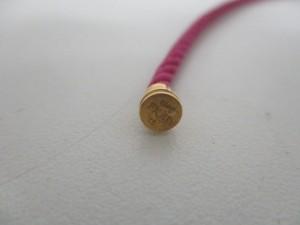 フレッド FRED 小物 レディース 美品 フォース10ミニケーブル ピンク×ゴールド ブレスレット用コード/サイズ:15【中古】