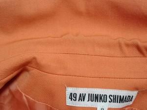 49アベニュージュンコシマダ 49av.Junko Shimada スカートスーツ サイズ9 M レディース オレンジ 肩パッド【中古】