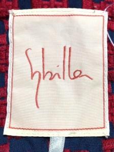 シビラ Sybilla コート サイズM レディース 美品 ダークネイビー×レッド 刺繍/春・秋物【中古】