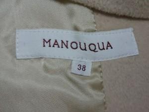 マヌーカ MANOUQUA コート サイズ38 M レディース ベージュ ショート丈/冬物【中古】