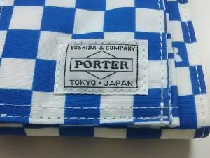 ポーター PORTER/吉田 2つ折り財布 レディース 美品 - 白×ブルー BEAMS ナイロン【中古】