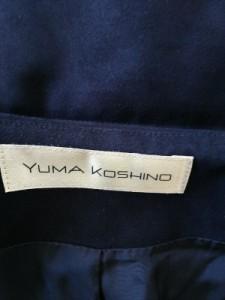 ユマコシノ YUMAKOSHINO コート サイズ38 M レディース 黒 冬物【中古】
