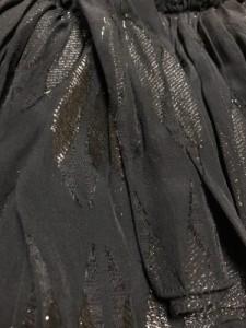 シーバイクロエ SEE BY CHLOE ワンピース サイズ40 M レディース 黒 プリーツ/フリル/ラメ/シースルー【中古】