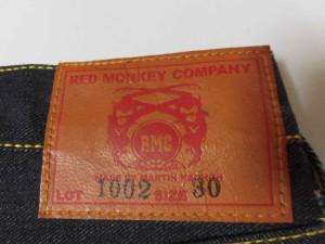 レッドモンキー RED MONKEY ジーンズ サイズ30 メンズ 美品 ダークグレー×グリーン【中古】
