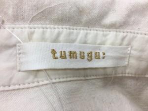 ツムグ tumugu 長袖カットソー サイズF レディース 美品 アイボリー【中古】