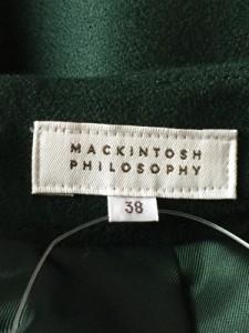 マッキントッシュフィロソフィー MACKINTOSH PHILOSOPHY スカート サイズ38 L レディース 美品 グリーン【中古】