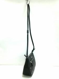 コーチ COACH ショルダーバッグ レディース 美品 ライダー ポシェット ペブル レザー 36489 黒 レザー【中古】