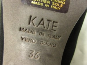 ケイト KATE ブーティ 36 レディース 黒 スエード×レザー【中古】