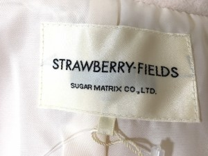 ストロベリーフィールズ STRAWBERRY-FIELDS コート サイズ2 M レディース 美品 ピンク 冬物【中古】
