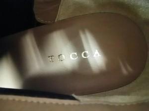トッカ TOCCA ブーティ 36 レディース 美品 ネイビー リボン/アウトソール張替済 スエード【中古】