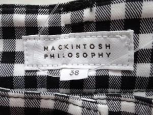 マッキントッシュフィロソフィー MACKINTOSH PHILOSOPHY パンツ サイズ38 L レディース 美品 白×黒 チェック柄【中古】