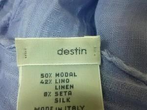 デスティン destin ストール(ショール) レディース 美品 ライトパープル モダール×麻×シルク【中古】